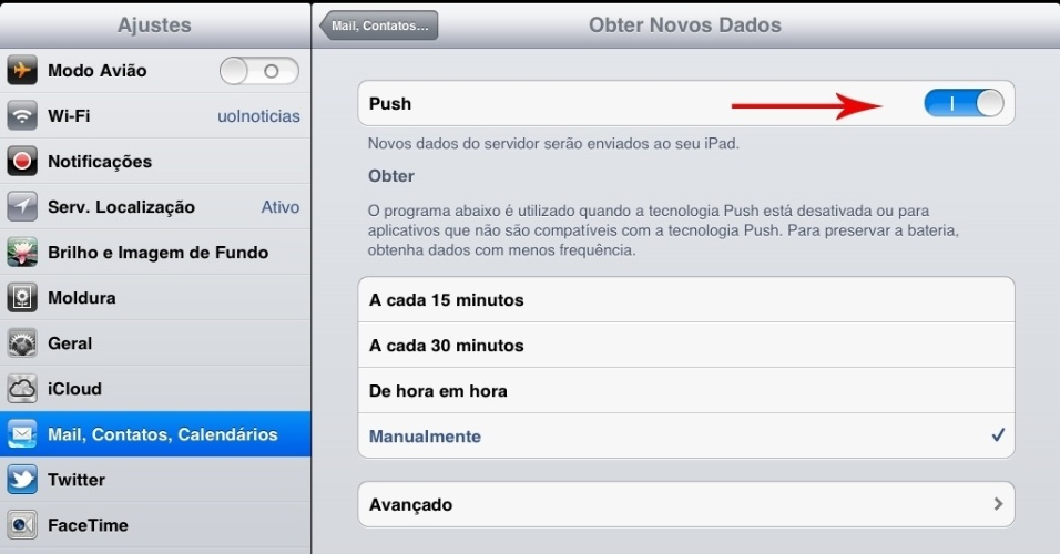 Print do tablet iPad