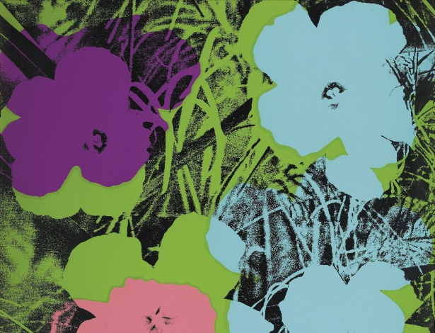 """Reprodução da serigrafia """"Flowers"""" de Andy Warhol (26/4/12) - Efe/Christie""""s"""
