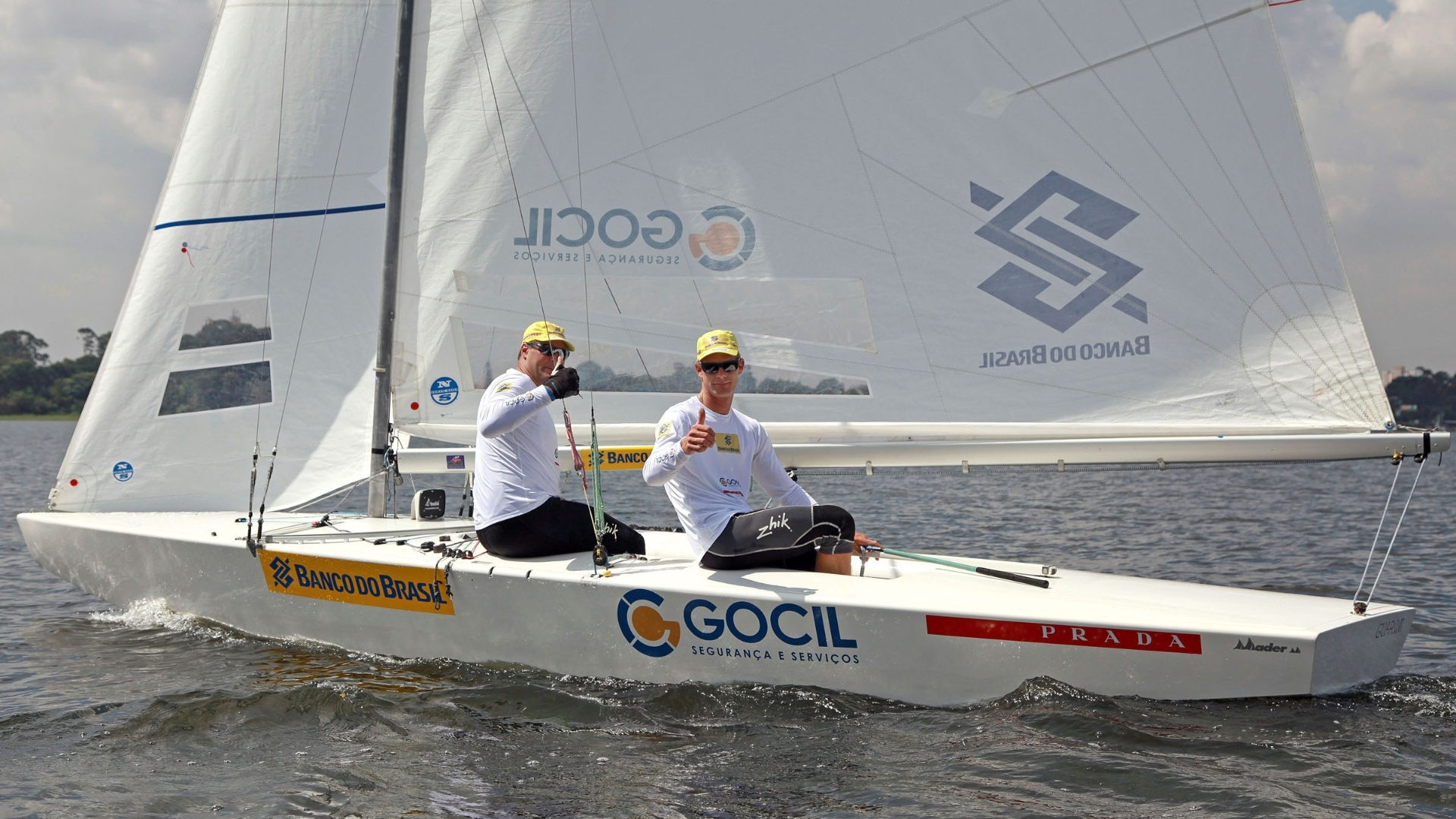Robert Scheidt (d.) e Bruno Prada, líderes do ranking mundial da classe Star