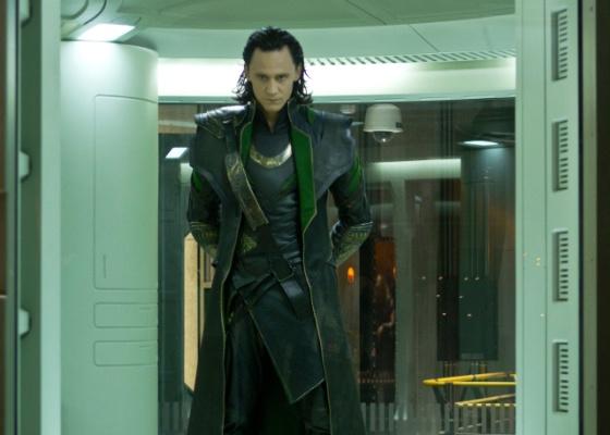 """Tom Hiddleston como o vilão Loki em """"Os Vingadores"""""""