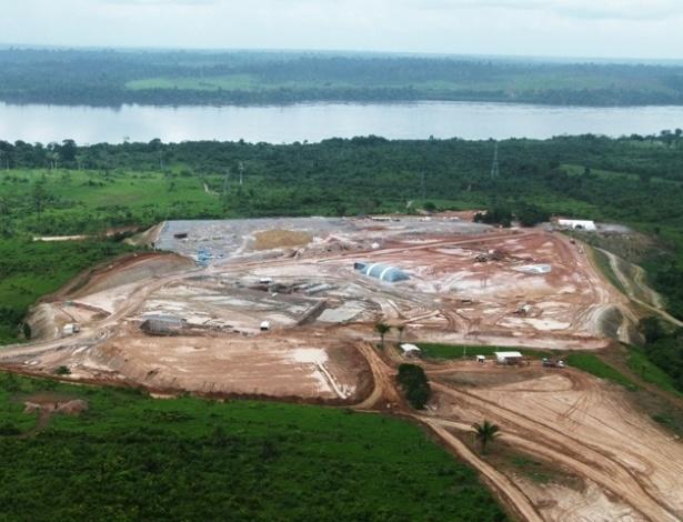 27.abr.2012 - Foto mostra local em que está sendo construído o canteiro do Sítio Belo Monte para equipes que trabalharão na construção da usina hidrelétrica de Belo Monte, no rio Xingu, no Pará