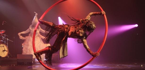 """Clown do espetáculo """"Alegria"""", do Cirque du Soleil, apresenta espetáculo """"Universo Casuo"""" no dia 29 de maio, no Teatro Bradesco (Rua Turiassu, 2100 - Pompéia - São Paulo). Marcos Casuo deixou a trupe em 2008 para voltar ao Brasil  - Divulgação"""