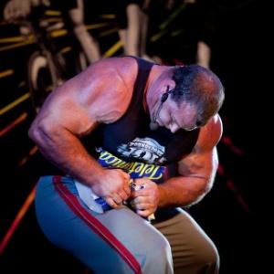 Derek Poundstone, conhecido como o homem mais forte das Américas, é um dos destaques do evento - Rodrigo Capote/Folhapress