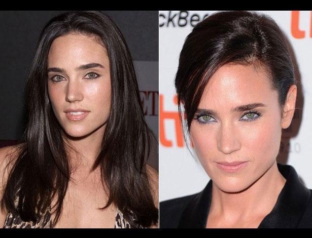 Jennifer Connelly em 2000, aos 30 anos; e em 2012, aos 40 anos