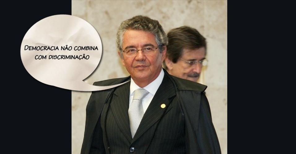 """Ministro Marco Aurélio Mello: """"Democracia não combina com discriminação"""""""