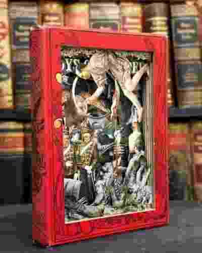 O artista diz que o objetivo é que os livros sejam pendurados na parede ou expostos em uma prateleira, como um objeto de arte - Alexander Korzer-Robinson / Barcroft