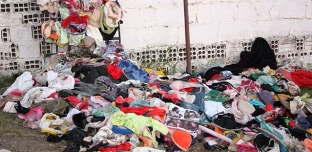 Policiais encontraram cerca de 2.000 calcinhas e sutiãs na casa de suspeito de furtar quintais