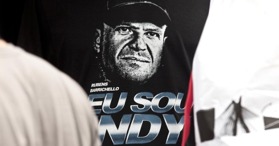 Camiseta de Rubens Barrichello vendida no Anhembi