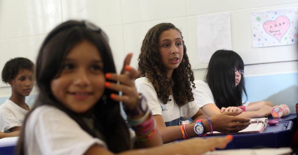 Turma de mandarim na escola Bolívar é formada por 35 alunos. A disciplina é eletiva para os alunos