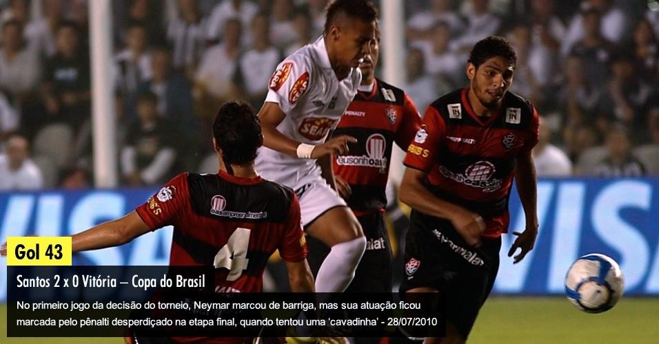 No primeiro jogo da decisão do torneio, Neymar marcou de barriga, mas sua atuação ficou marcada pelo pênalti desperdiçado na etapa final, quando tentou uma ?cavadinha? - 28/07/2010