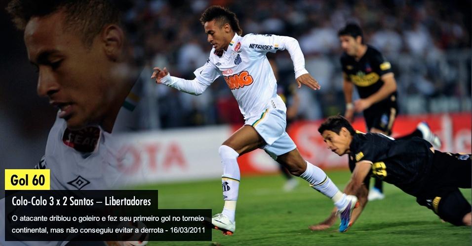 O atacante driblou o goleiro e fez seu primeiro gol no torneio continental, mas não conseguiu evitar a derrota - 16/03/2011
