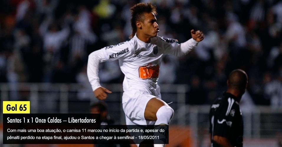 Com mais uma boa atuação, o camisa 11 marcou no início da partida e, apesar do pênalti perdido na etapa final, ajudou o Santos a chegar à semifinal - 18/05/2011