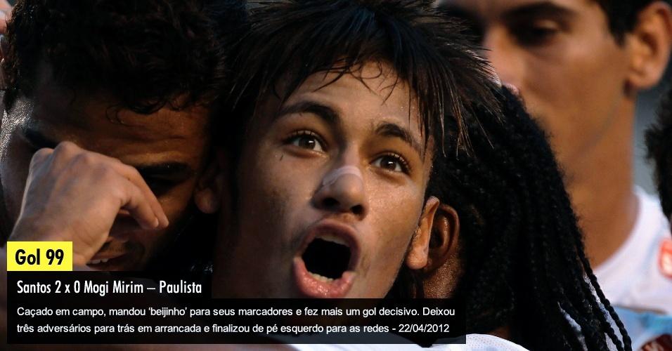 """Caçado em campo, mandou """"beijinho"""" para seus marcadores e fez mais um gol decisivo. Deixou três adversários para trás em arrancada e finalizou de pé esquerdo para as redes - 22/04/2012"""