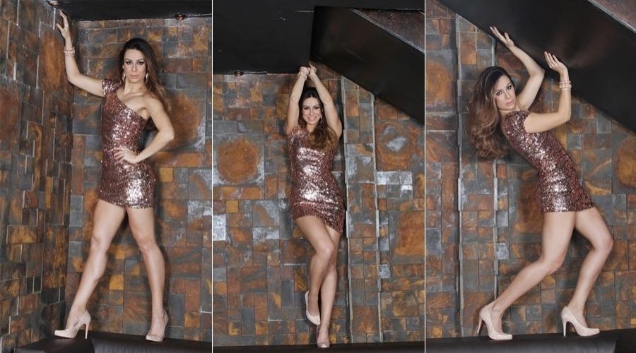 """A atriz e coreógrafa do metrô do """"Zorra Total"""", Fabiana Schunk, em ensaio para a capa da revista """"Styllus"""" de maio (30/4/12)"""