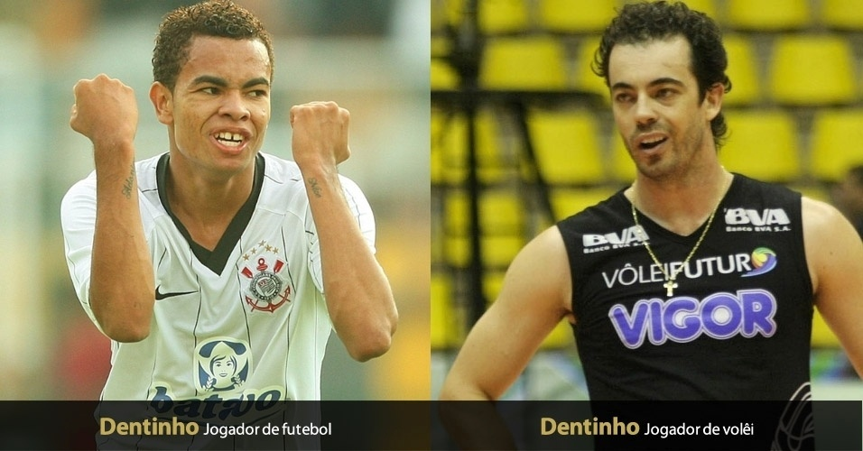 Bruno Bonfim, ex-atacante do Corinthians hoje no Shaktar, e Rafael Luiz Fantin, ponteiro do Vôlei Futuro, têm o apelido de