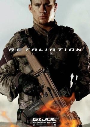"""Channing Tatum em cartaz do filme """"G.I. Joe: Retaliação"""""""