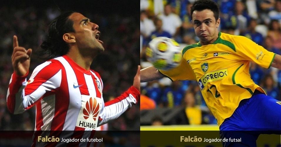 O 'Falcão' é apelido para o astro da seleção brasileira de futsal, mas é nome para Falcão Garcia, atacante do Atlétido de Madrid