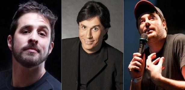 Os humoristas Rafinha Bastos, Tom Cavalcante e Danilo Gentili são destaques na programação de stand-up comedy da Virada Cultural  - Divulgação
