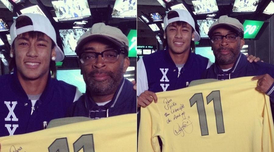 Spike Lee ganha camisa autografada de Neymar (30/4/12)