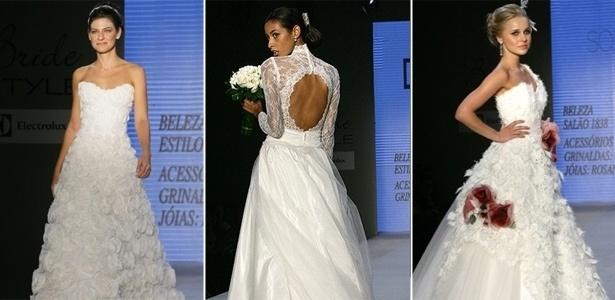 Tomara que caia, decote nas costas e detalhes em rosa ou nude espalhados pelo vestido estão em alta - Aline Arruda/UOL