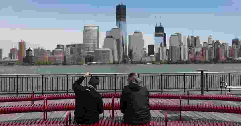 World Trade Center torna-se o prédio mais alto de NY - Mario Tama/AFP