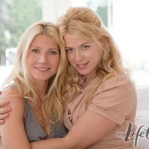Gwyneth Paltrow e a apresentadora Amanda de Cadenet no