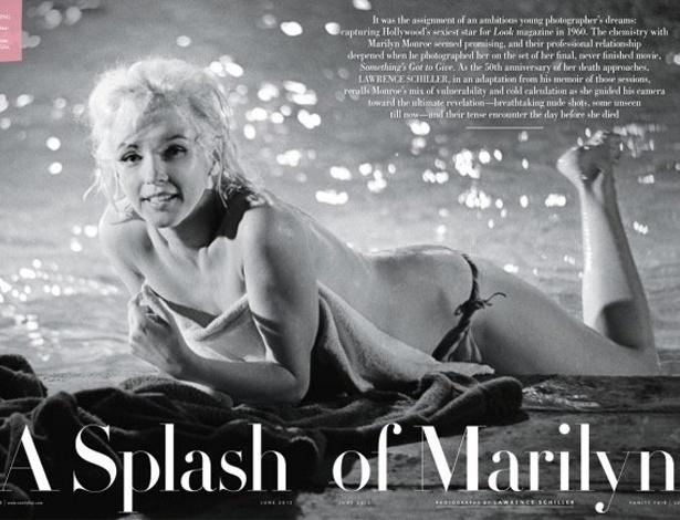 """Marilyn Monroe aparece nua em imagem inédita, publicada pela revista """"Vanity Fair"""" de junho"""