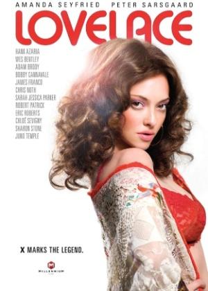 """Pôster do filme """"Lovelace"""", com Amanda Seyfried"""