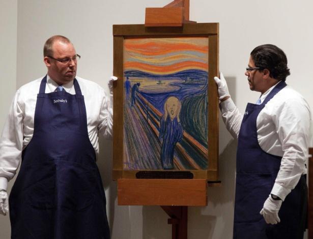 """Versão de """"O Grito"""", do pintor norueguês Edvard Munch, foi leiloada por US$ 119,9 milhões na casa Sotheby""""s de Nova York (EUA) - Andrew Burton/Reuters"""