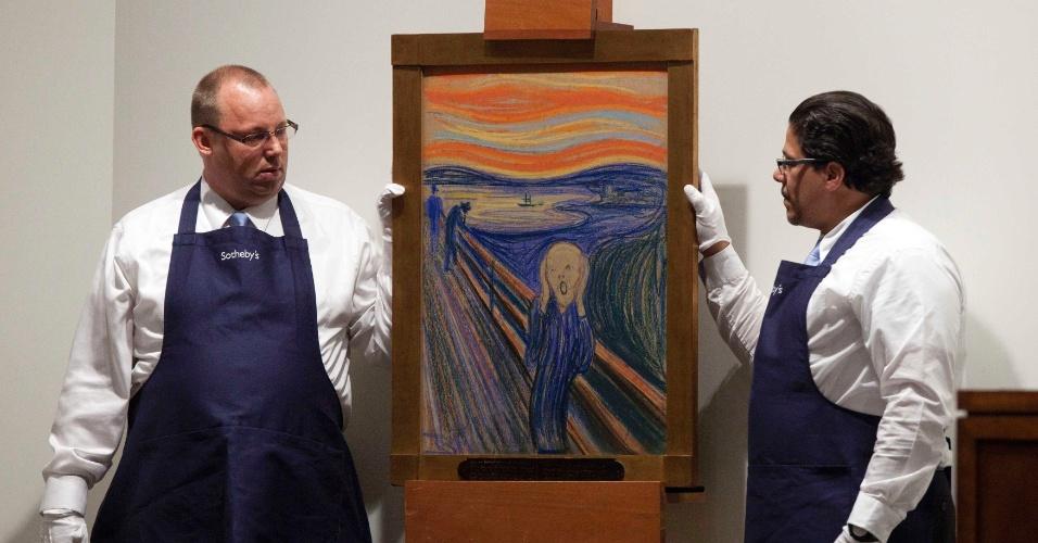 """2.mai.2012 - Versão de """"O Grito"""", do pintor norueguês Edvard Munch, foi leiloada por US$ 119,9 milhões na casa Sotheby's de Nova York (EUA)"""