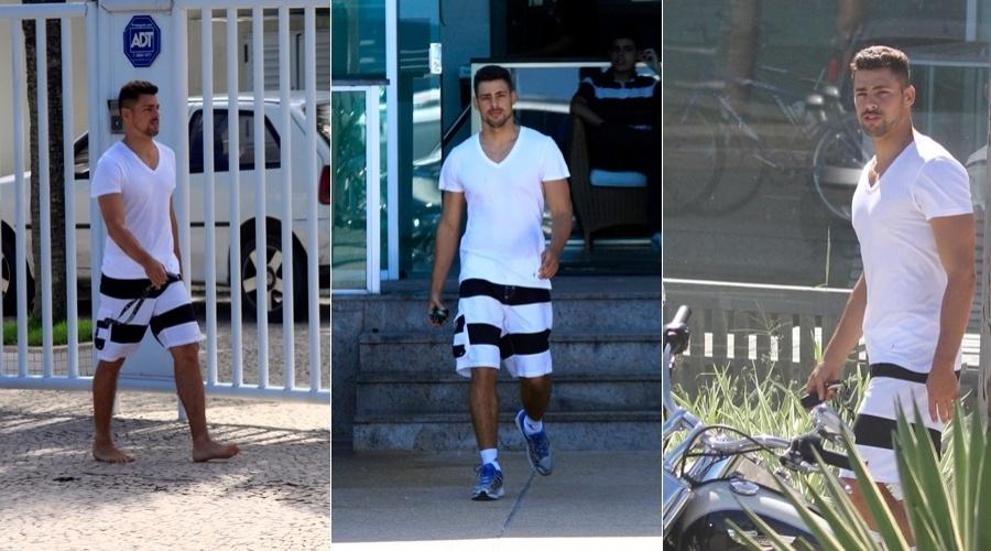 Cauã Reymond deixa academia na zona oeste do Rio (2/5/12)
