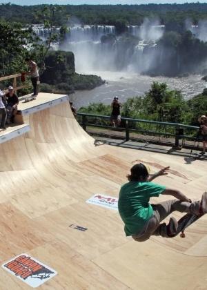 Half pipe em frente às cataratas do Iguaçu será uma das atrações dos X Games em Foz