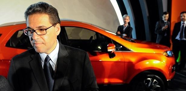 Marcos de Oliveira, agora ex-presidente da Ford, durante pré-lançamento do novo EcoSport - Marcelo Camargo/Folhapress