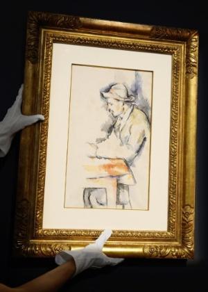"""Obra de Paul Cezanne em imagem de leilão da Christie""""s - AFP PHOTO/DON EMMERT"""