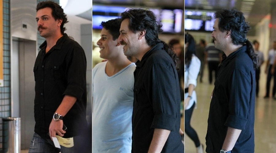 Rodrigo Lombardi circula pelo aeroporto Santos Dumont, centro do Rio (2/5/12)