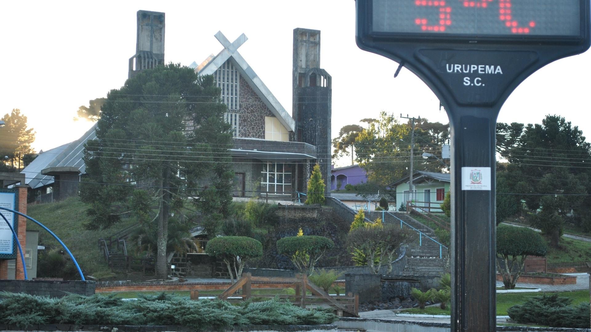 Urupema (SC), a cidade mais fria do Brasil, voltou a amanhecer com temperatura negativa