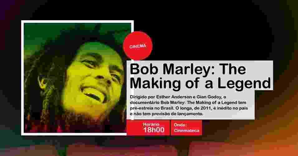 """""""Bob Marley: The Making of a Legend"""" tem pré-estreia na Virada Cultural, às 18h00, na Cinemateca (Rua Largo Senador Raul Cardoso, 207, Vila Clementino) - Divulgação"""