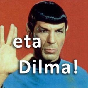 """Imagem do personagem Spock, de """"Startrek"""", fazendo um apelo para que a presidente vete o texto que modifica o Código Florestal"""