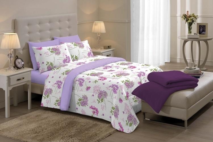 Da Camesa, o jogo de cama de casal Poesie tem 200 fios e estampa floral. À venda no Extra (www.extra.com.br) por R$ 56,90. Preços pesquisados em maio de 2012 e sujeitos a alterações