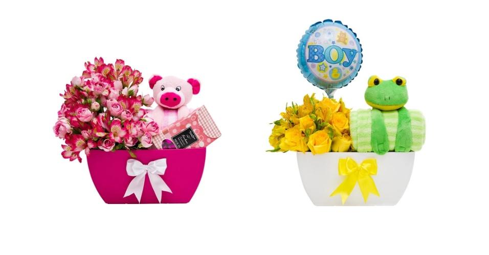 Floreiras Bom Menino e Boa Menina da MBFlores
