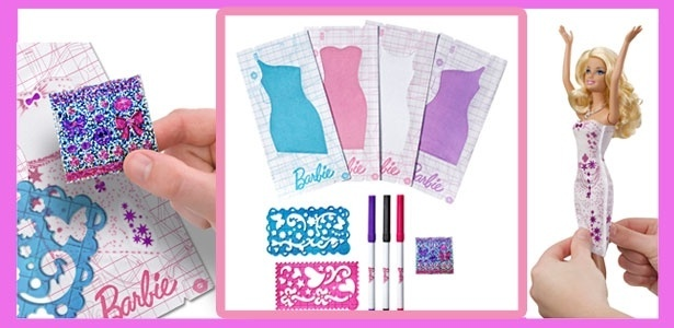 Nova Barbie Design de Vestidos permite que a criança brinque de criar look exclusivo
