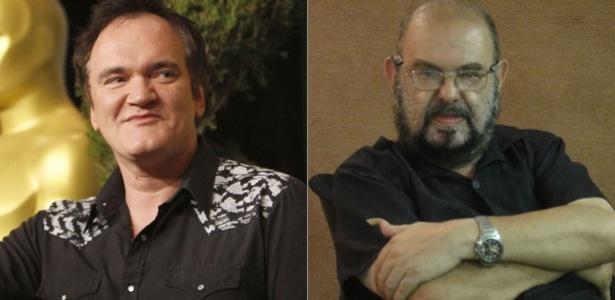 Os diretores Quentin Tarantino (esq.) e José Mojica Marins (dir.), que terão filmes na programação de cinema da Virada Cultural de SP  - Divulgação