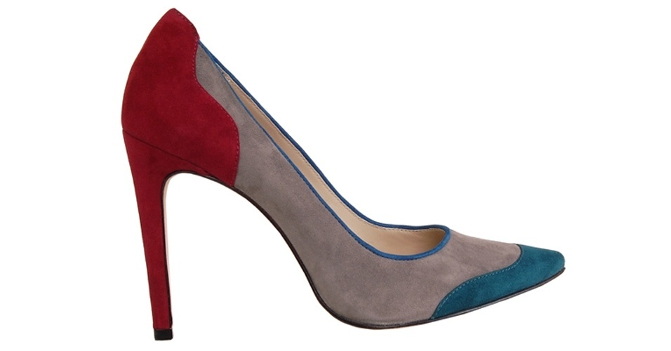 Sapato tricolor; R$ 399,90, na Guilhermina