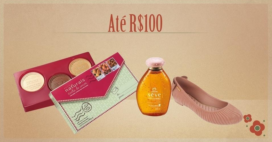 Álbum Dia das Mães 2012 - abre seção dos presentes com preços de até R$100