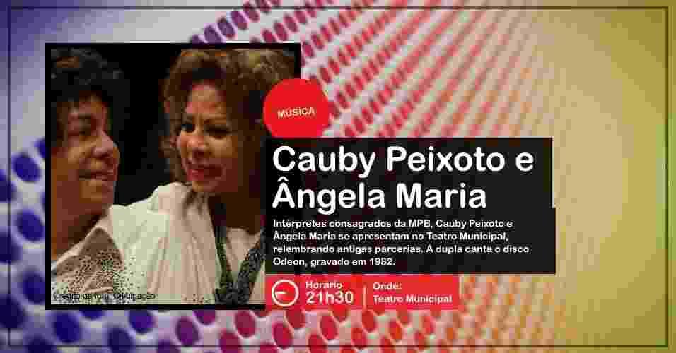 Ângela Maria e Cauby Peixoto se apresentam na Virada Cultural, no Teatro Municipal, com ingressos esgotados - Divulgação