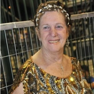 Dona Edna, mulher do presidente da escola de samba Acadêmicos do Tucuruvi - Reprodução