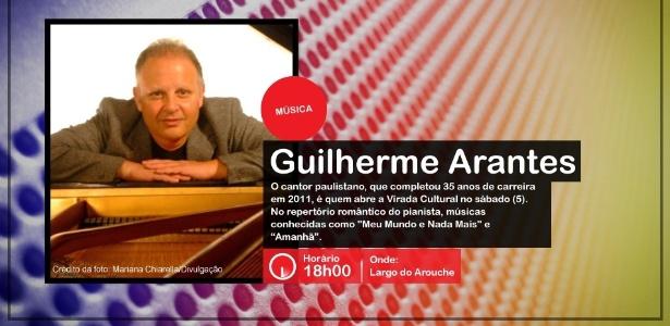Guilherme Arantes se apresenta na Virada Cultural, às 18h00, no Largo do Arouche  - Divulgação