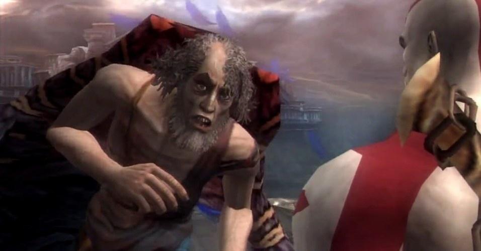 Ícaro também cruza o caminho do outrora deus da guerra. É derrotado e Kratos fica com suas asas, que lhe confere o poder de planar