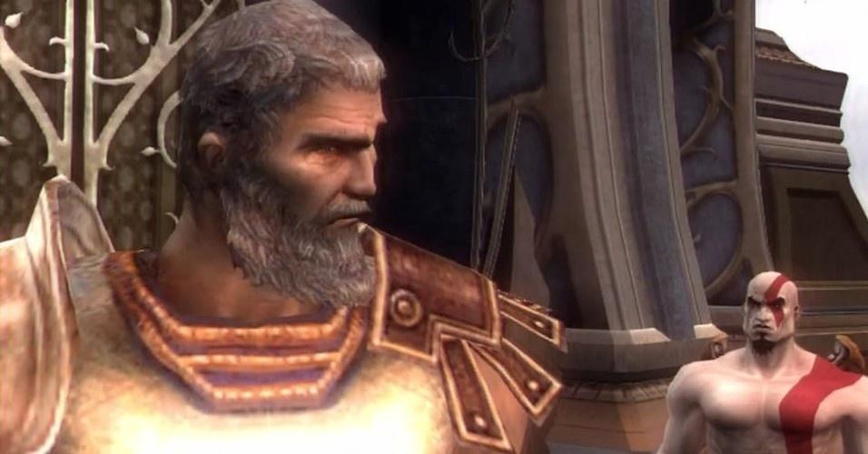 """No caminho para sua vingança, Kratos supera o desafio do herói Teseu, que tem uma das mortes mais brutais da série """"God of War"""""""