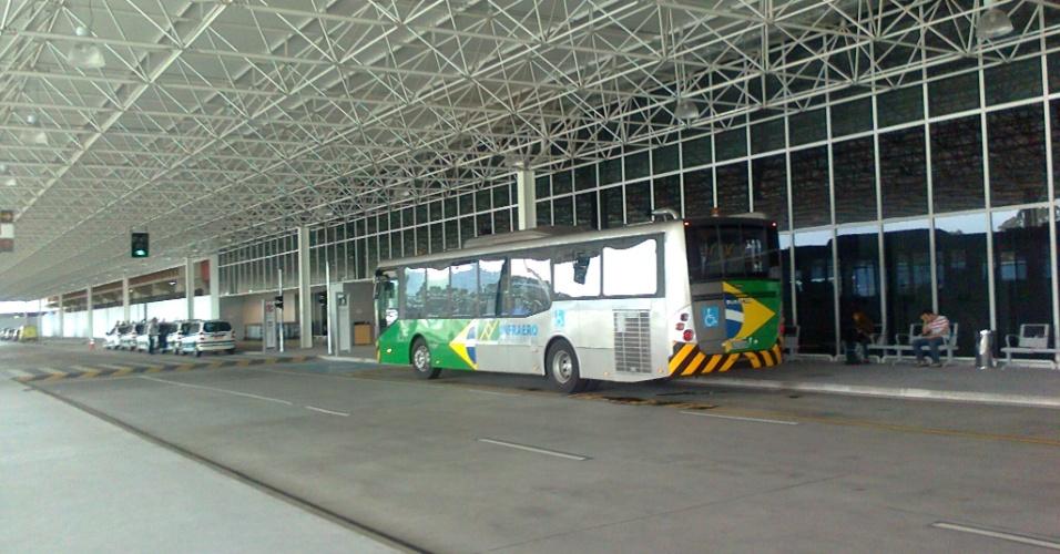 No mais recente terminal do aeroporto de Cumbica, em Guarulhos (SP), o movimento ainda é baixo